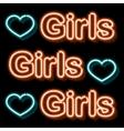 Vintage neon sign vector image