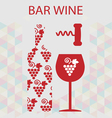 Red wine and tasting card bottle vector image