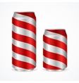 Aluminium Cans with Red Stripes vector image