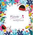 flowers invitation vector image