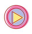 music symbol design style icon vector image