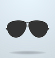 Police or cop sunglasses glasses black icon vector image