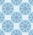 Seamless Christmas cute snowflake pattern vector image
