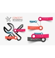 Setting tools infographics with keywords vector image