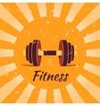 Vintage fitness poster background vector image