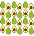 Avocado fruits background design vector image