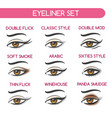 woman eyes makeup set vector image