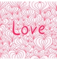 Love seamless with hearts vector image