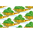 Crocodile Family in a Green Bushes vector image