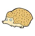 comic cartoon hedgehog vector image