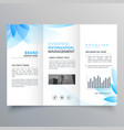 abstract blue flower style business brochure vector image