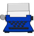 Cartoon typewriter vector image