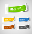 Colorful Label paper roll design vector image