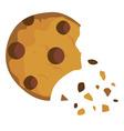 cookie broken vector image