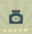 ink bottle icon vector image