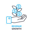 revenue growth concept outline icon linear sign vector image
