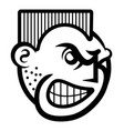 smiley face icon of angry person vector image