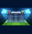 soccer scoreboard and football stadium vector image