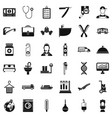 working icons set simple style vector image