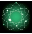 atomic model vector image vector image