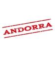 Andorra Watermark Stamp vector image