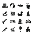Different kids toys icons set simple style vector image