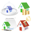 3D Real Estate Business Icon Set vector image vector image