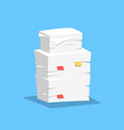 stack of papers vector image vector image