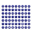 control panel buttons for a multimedia interface vector image vector image