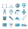 restaurant and night club icons vector image