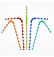 Striped Colorful Drinking Straws Set vector image vector image