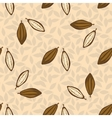 Cacao beans seamless pattern Chocolate background vector image