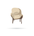 Chair isolated on a white backgrounds vector image
