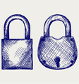 Closed locks security icon vector image