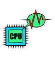 cpu icon cartoon vector image