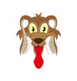 flat icons on theme funny animals dog vector image