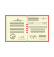 flight log book vector image