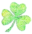 Isolated green clover on white vector image