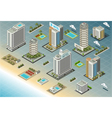 Isometric Seaside Buildings vector image