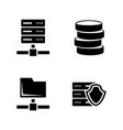 network servers simple related icons vector image