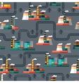 Seamless pattern of industrial power plants in vector image