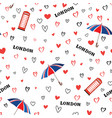 travel london city seamless pattern with love vector image