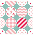 tile patchwork pattern with polka dots vector image