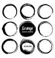 set of round grunge frames vector image