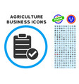 approve list rounded icon with set vector image