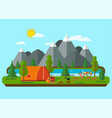 summer landscapes picnic barbecue vector image