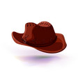 cowboy hat masquerade or vector image