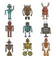 Hipster robot set vector image