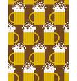 Beer seamless pattern Beer mug background Mug with vector image