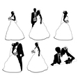 wedding silhouettes vector image